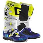 Boty na motokros enduro Gaerne SG12 Boots White Blue Flo Yellow Limited Edition 2019